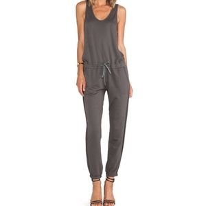 HEORY Grey Lortan French Terry Knit Jumpsuit